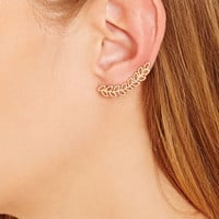 Cutout Leaf Ear Pins