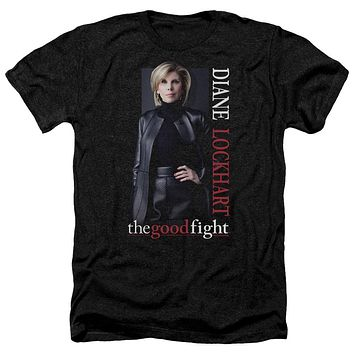 The Good Fight Heather T-Shirt Diane Black Tee