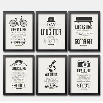 Modern Inspiring Art Painting Poster Print Life Quote On Canvas Modular pictures on the wall Company Home Decor No Frame DP0004