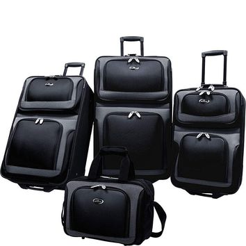 U.S. Traveler New Yorker 4-Piece Luggage Set - eBags.com