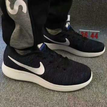 """NIKE"" net surface breathable sneaker running casual shoes Navy blue"