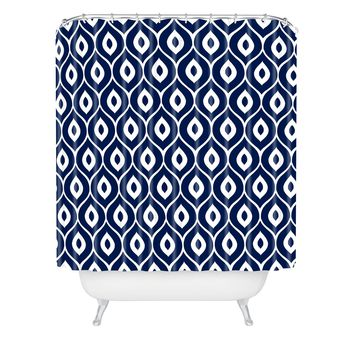 Aimee St Hill Leela Navy Shower Curtain