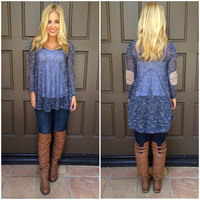 Go With The Flow Knit Top - NAVY