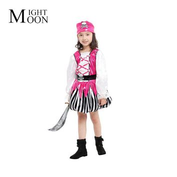 MOONIGHT Children's Day Halloween Show Cosplay Costume Party Costume Props Small Pirate Costume Clothes Dress Up Clothes