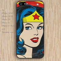 iPhone 5s 6 case colorful wonder woman phone case iphone case,ipod case,samsung galaxy case available plastic rubber case waterproof B291