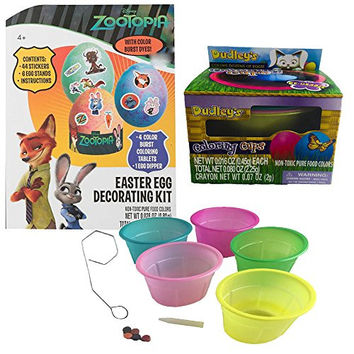 Disney Zootopia Easter Egg Decorating Kit with Coloring Cups Bundle