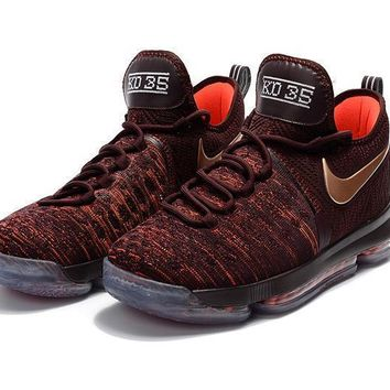 2017 nike zoom kd 9 kevin durant men s christmas gold basketball shoes