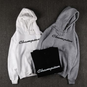 Champion Trending Long Sleeve Pullover Hoodie Casual  Sweater B-YZ CPGC(ZZXD)