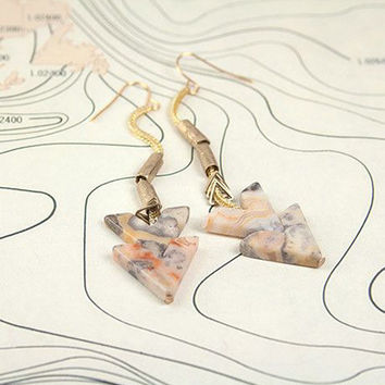 Convergence Earrings: Crazy Lace Agate