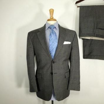 Vintage Mens suit, vintage clothing 80's by Ralph Lauren for LaurenTwo Piece Two Butto