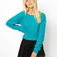 ASOS Cropped Sweater - Green