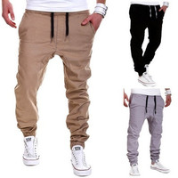 2016 High Quality Men's sport joggers hip hop jogging fitness pant casual pant trousers sweatpants M-XXXL [8270430593]
