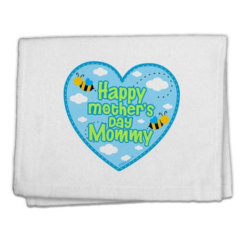 "Happy Mother's Day Mommy - Blue 11""x18"" Dish Fingertip Towel by TooLoud"