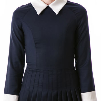 L'ecole Des Femmes Belle de Jour Pleated Dress