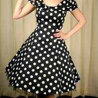 H & R London | Precious Big Dot Swing Dress