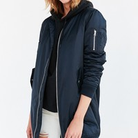 Silence   Noise Longline Flight Bomber Jacket