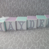 Wooden Name Blocks, Baby Name Blocks, Name Blocks, Baby, Baby Girl, Girl, Newborn, Baby Shower, Baby Gift, Blocks, Nursery,