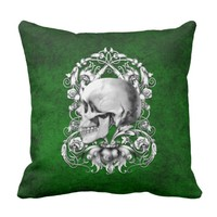 Skull Cameo 2 Throw Pillow