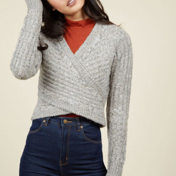 Wouldn't Knit Be Nice? Sweater in Smoke | Mod Retro Vintage Sweaters | ModCloth.com