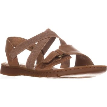 Born Britton Flats Strappy Sandals, Brown, 10 US / 42 EU