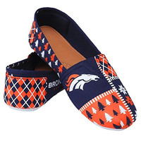 Denver Broncos Forever Collectibles Women's Ugly Canvas Slip On Shoes Sizes S-XL w/ Priority Shipping