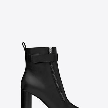 LOULOU 95 ankle boots in black moroder leather