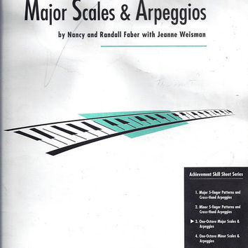 1995 Vintage 1 Octave Major Scales & Arpeggios, By Nancy and Randall Faber, Jeanne Weisman, Sheet 3, FJH Music Co. Vintage Piano Music