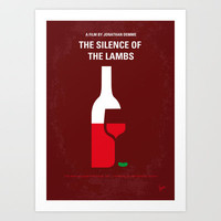 No078 My Silence of the lamb minimal movie poster Art Print by Chungkong