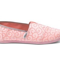 Pink Swirl Pattern Youth Classics | TOMS.com