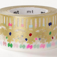 Crown Gold, Mina Perhonen - Japanese mt Washi Paper Masking Tape - Kawaii Colorful Deco Collage, Gift Wrapping, Decor Sticker - mtmina24