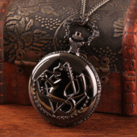 New Black Tone Fullmetal Alchemist Pocket Watch
