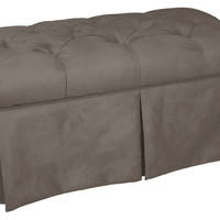 "Olivia 36"" Tufted Storage Bench, Gray, Entryway Bench"