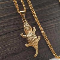 Stylish Gift New Arrival Jewelry Shiny Hip-hop Star Music Metal Necklace [6542724291]