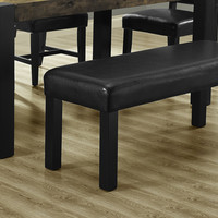 """Black Leather-Look 45""""L Bench"""
