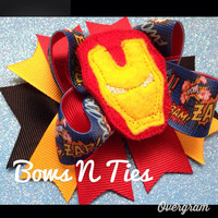 Boutique style Superhero bow great for party or photo prop