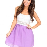 Want To Want Me Lavender And Ivory Lace Dress | Monday Dress Boutique