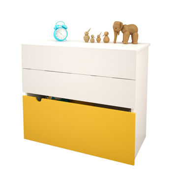 Toko 2-Drawer Chest with Trunk- White/Yellow