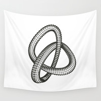 Shape 1 Wall Tapestry by White Print Design