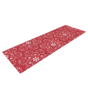 "Heidi Jennings ""Christmas Spirit"" Red Yoga Mat"