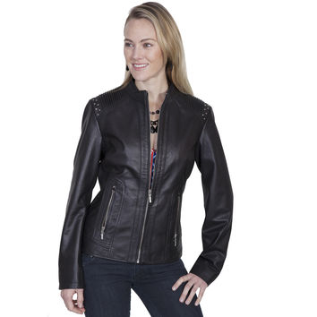 Scully Womens Black Contemporary Leather Jacket