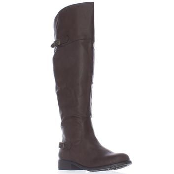 AR35 Ada Wide Calf Tall Boots, Brown, 6 US