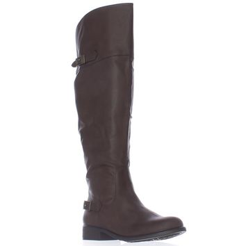 AR35 Ada Wide Calf Tall Boots, Brown, 5 US
