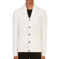 Rag And Bone Off-white Avery Shawl Cardigan