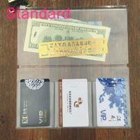 Traveler's Notebook Inserts Refill Personal Size Transparent Portable Purse Wallet Cards Holder