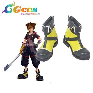 Free Shipping Cosplay Shoes Kingdom Hearts Sora Boots Anime New in Stock Halloween Christmas