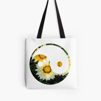 'Sunflower Yin Yang' Tote Bag by phantastique