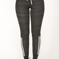 Lover Lounge Jogger - Heather Black