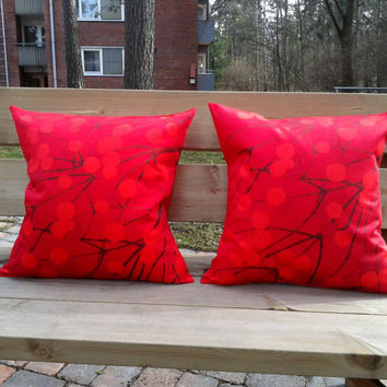 Marimekko pillow, pillow cover, cushion, throw Pillow cover, Scandinavian Design, Marimekko fabric, Lumimarja, set of 2
