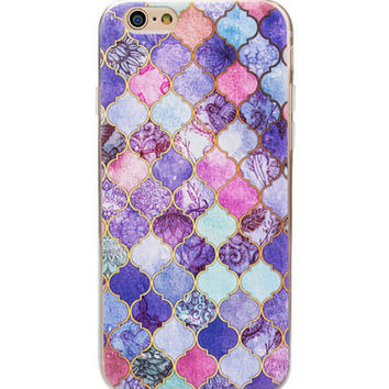 Cool Marble phone cases for iphone 7 5 5s 6 6s 6 plus 6s plus Soft Slim Oil Painting Cover -0321