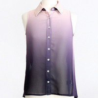 Melt With You Purple Ombre Top